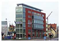 Kotorshus vid infarten till Uppsala